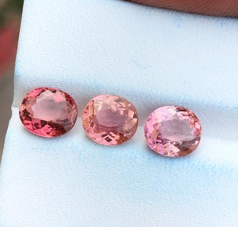3.95 Ct Natural Pinkish Transparent Tourmaline Gemstones