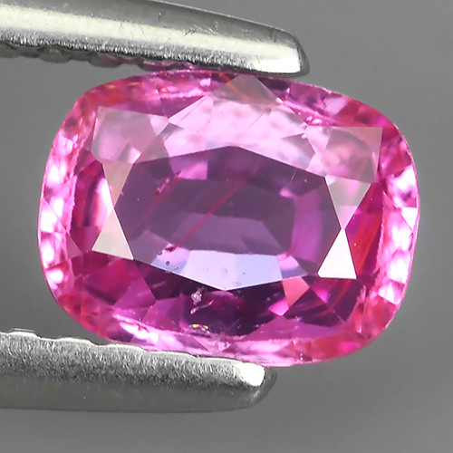 AWESOME CEYLON PINK SAPPHIRE FACETED GENUINE CUSHION