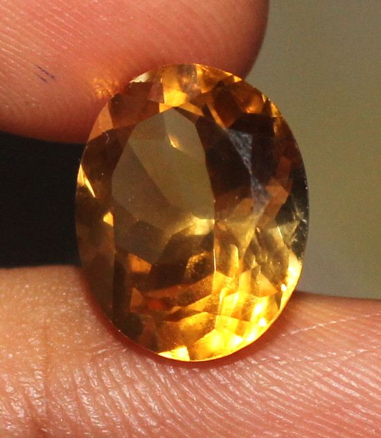 4.50 CT Natural Citrine Faceted Gemstone 1