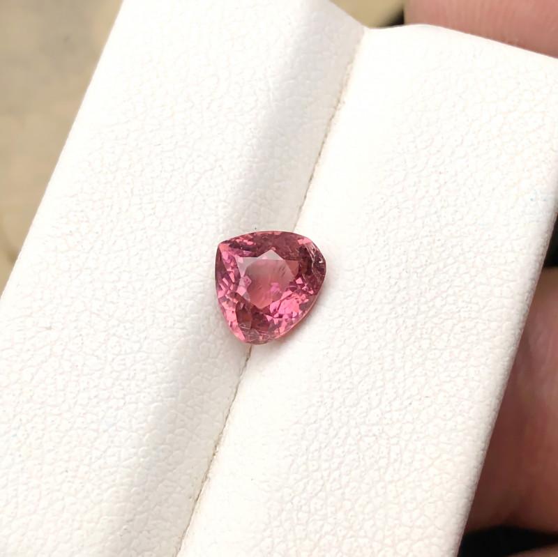 1.40 Ct Natural Pink  Transparent Tourmaline Heart Shape Gemstone