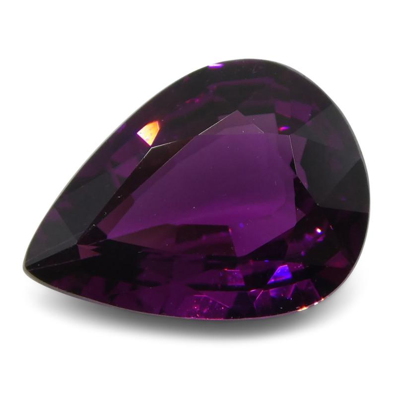 2.69 ct Rhodolite Garnet Pear Fine Purple (Rhodolite/Umbalite)