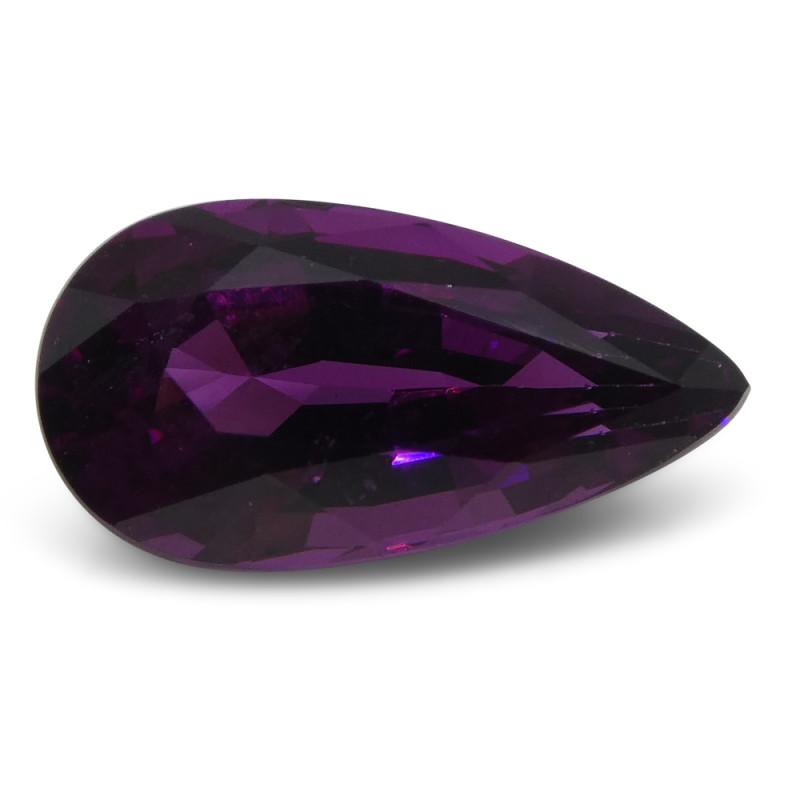 1.88 ct Rhodolite Garnet Pear Fine Purple (Rhodolite/Umbalite)