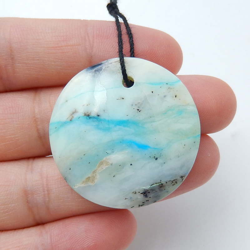 42cts Blue Opal Pendant Bead, October Birthstone, Blue Opal Bead D116