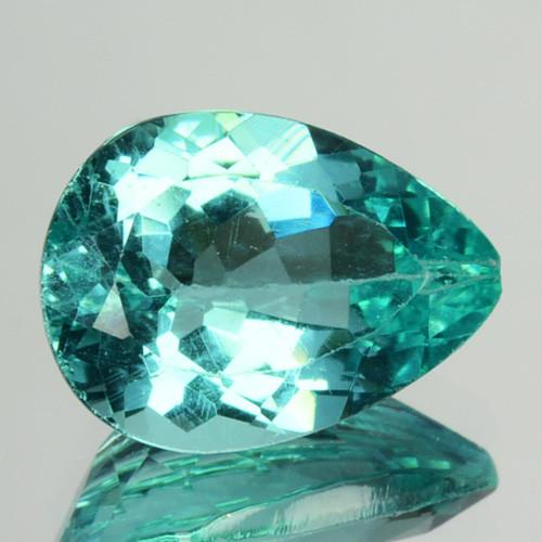 1.98 Cts Natural Apatite (Paraiba Blue Green) Pear Cut Brazil ~AAA~