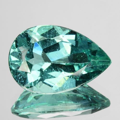 3.17 Cts Natural Apatite (Paraiba Blue Green) Pear Cut Brazil ~AAA~