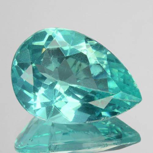 3.02 Cts Natural Apatite (Paraiba Blue Green) Pear Cut Brazil ~AAA~
