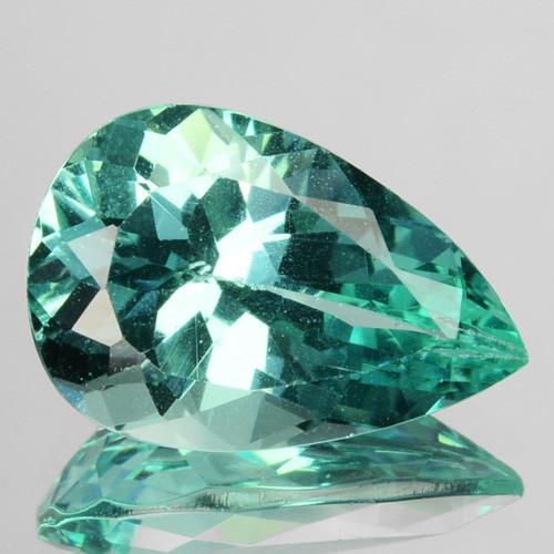 3.63 Cts Natural Apatite (Paraiba Blue Green) Pear Cut Brazil ~AAA~