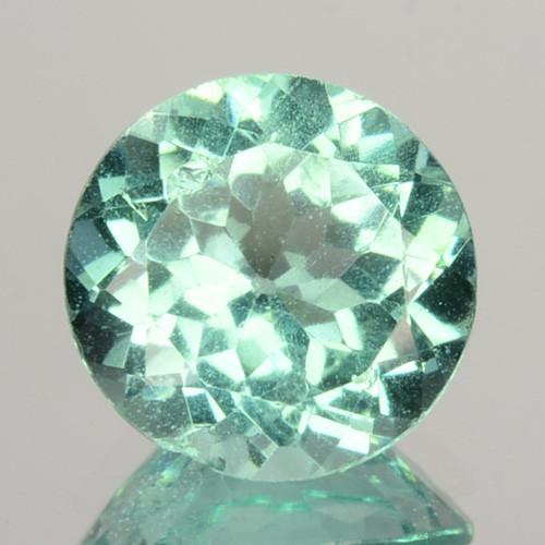 1.78 Cts Natural Apatite (Paraiba Blue Green) Round Cut Brazil