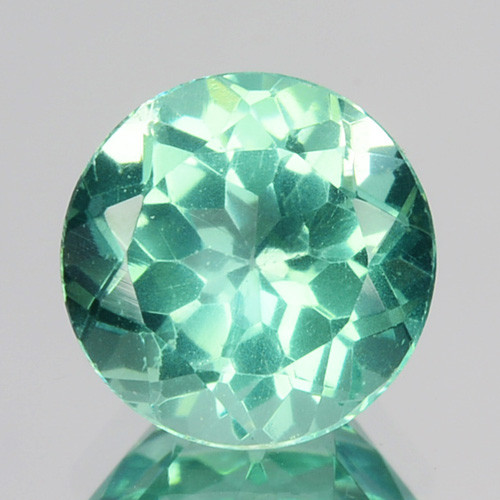 1.47 Cts Natural Apatite (Paraiba Blue Green) Round Cut Brazil