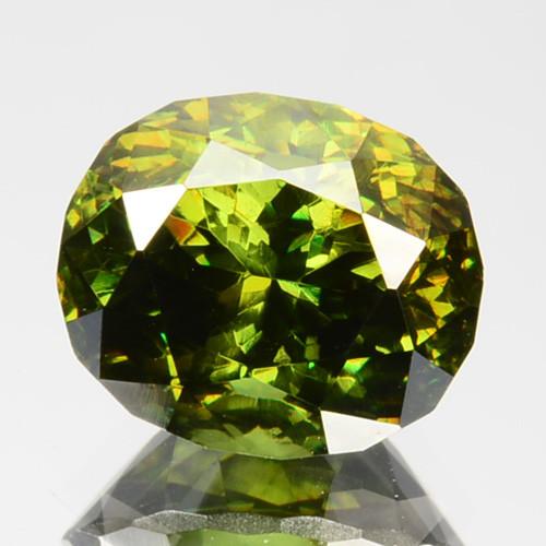 2.67Ct Natural Rare Green Sphalerite Oval Balgaria