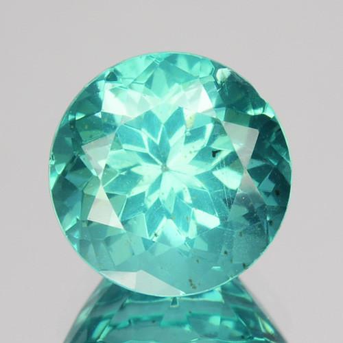 1.98 Cts Natural Apatite (Paraiba Blue Green) Round Cut Brazil