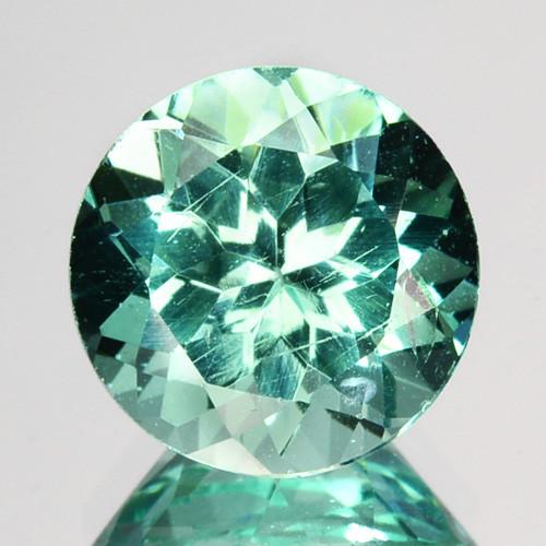 2.14 Cts Natural Apatite (Paraiba Blue Green) Round Cut Brazil