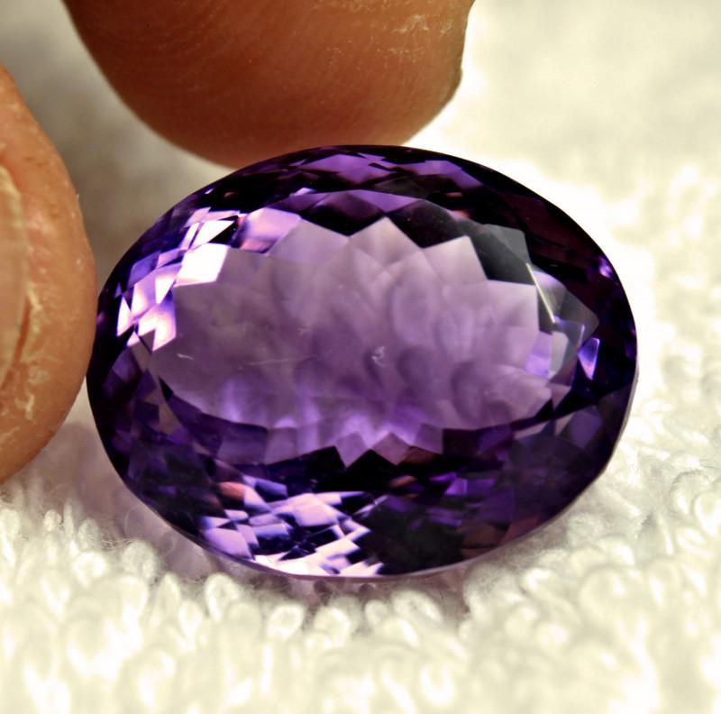 24.37 Carat Brazilian Purple VS/SI Amethyst - Gorgeous