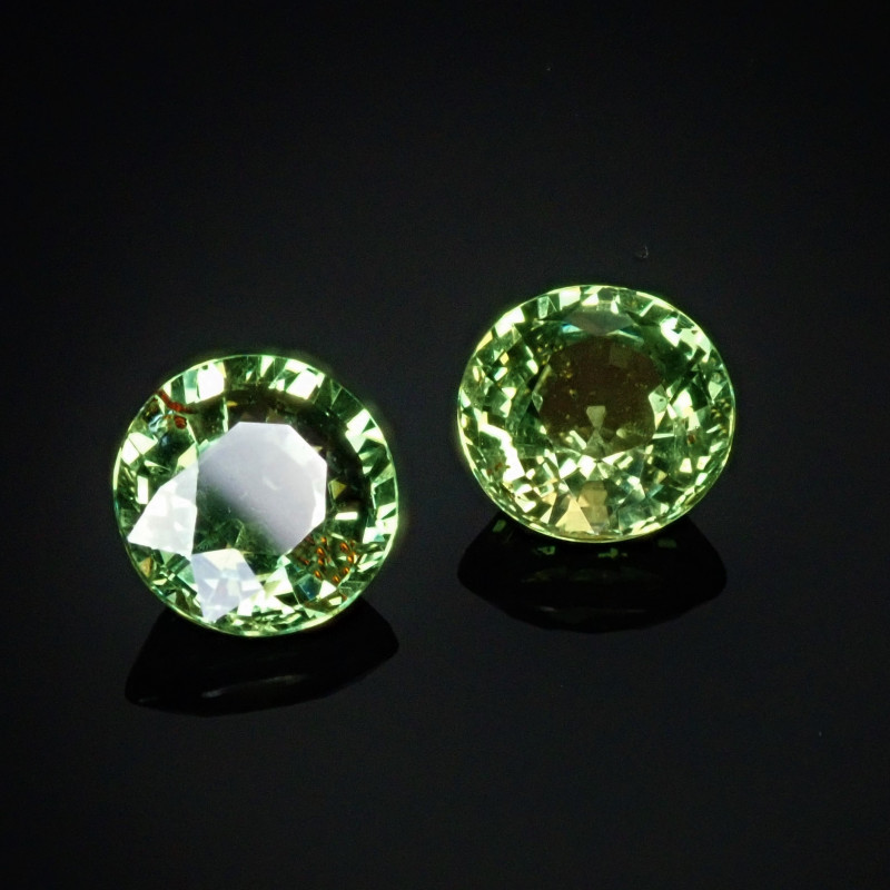 2.05tcw Green Sapphire rounds