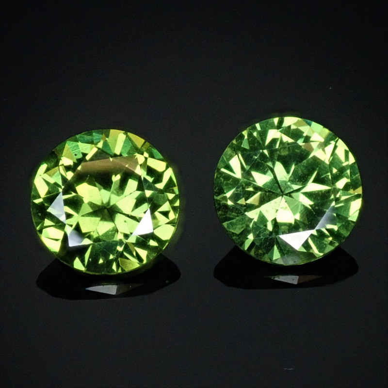 2.39tcw Matched Pair Green Sapphire