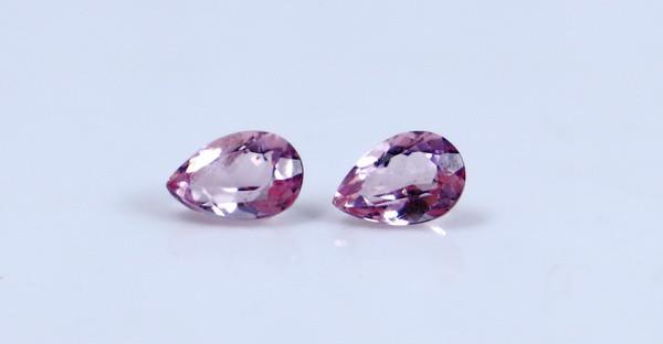 0.60 CT Certified GGTI~ Pink Morganite Gemstone Pair
