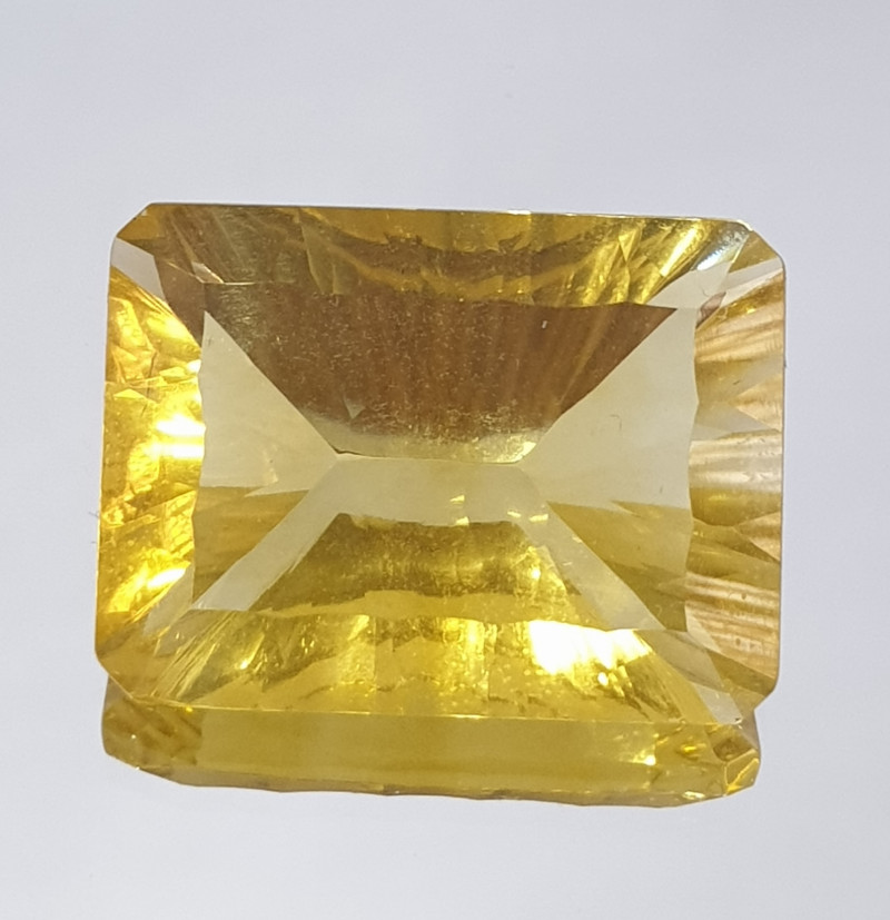 17.86 ct Yellow Fluorite Octagon Concave Cut (SKU 106)