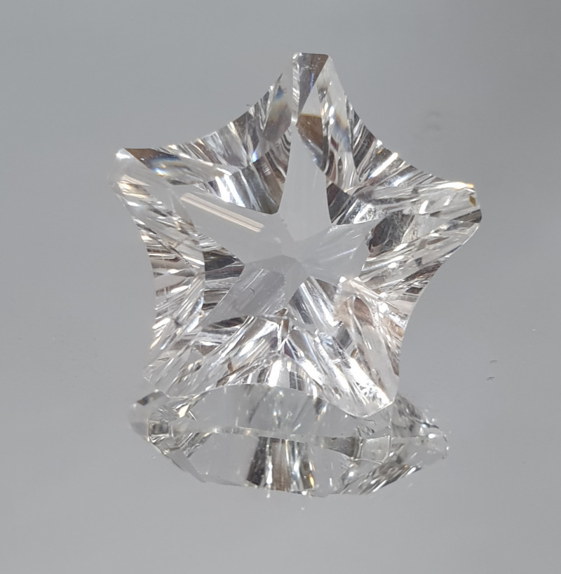 15.8ct Star Faceted Quartz Fancy Cut 19mm (SKU 107)