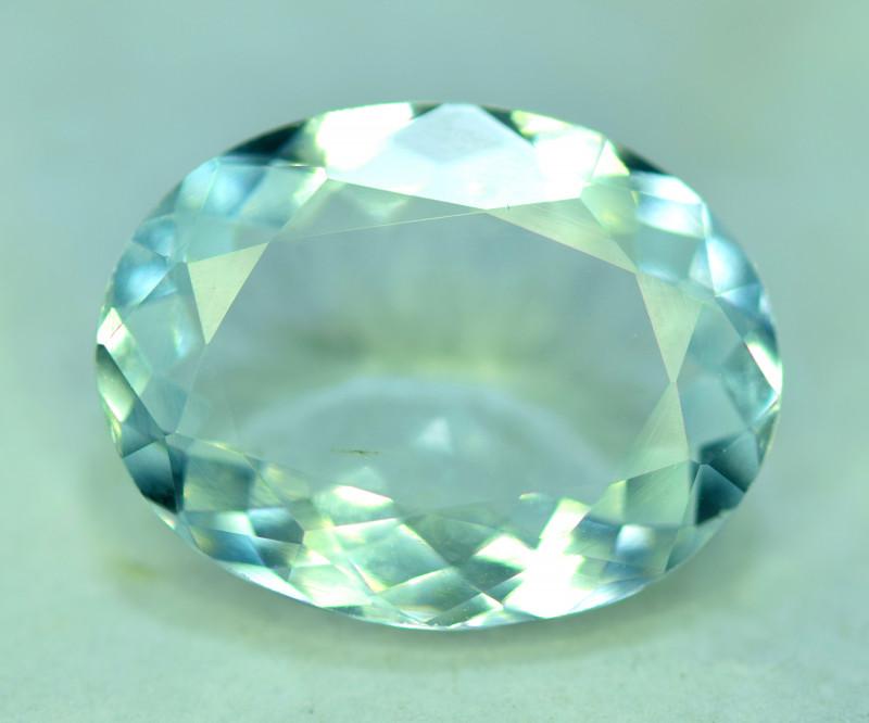 8 CT Natural Oval Cut Aquamarine Gemstone