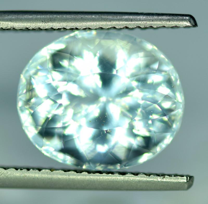8.7 CT Natural Oval Cut Aquamarine Gemstone