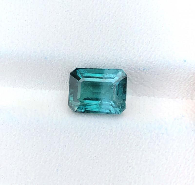 1.70 Ct Natural Dark Blue & Slightly Light Blue Tourmaline Gemstone
