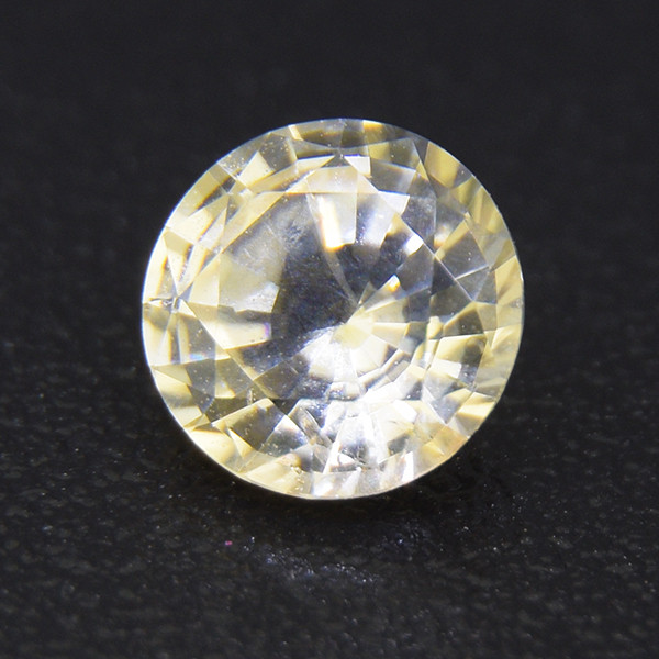 Unheated natural Yellow sapphire 0.42ct well-cut (01523)