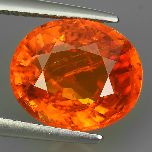 8.20 Cts Unheated Natural Orange Spessartite Garnet Namibia Gem