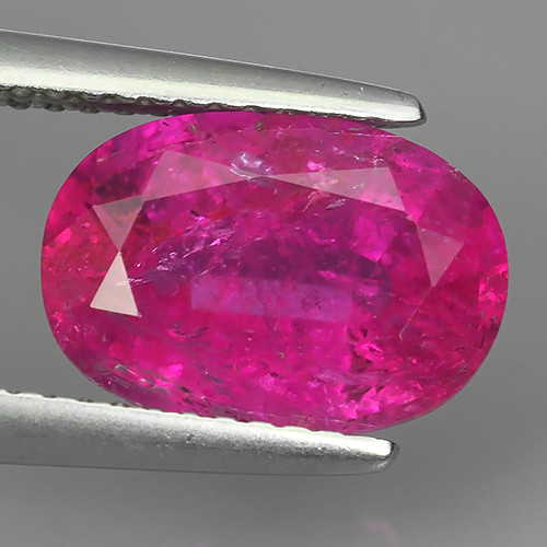 3.15 cts excellent~Natural Raspberry Pink Tourmaline oval Cut Mozambique Ge