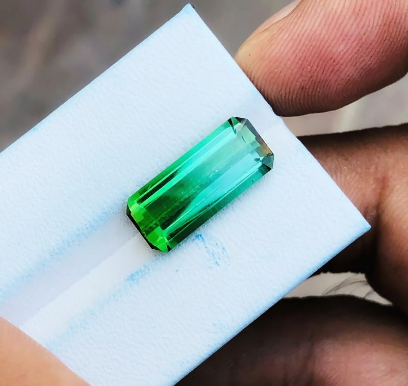 7.80 Ct Natural Blueish Green Transparent Tourmaline Gemstone