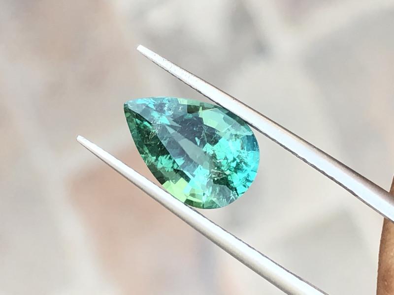 2.95 Ct Natural Greenish Blue Transparent Tourmaline Gemstone