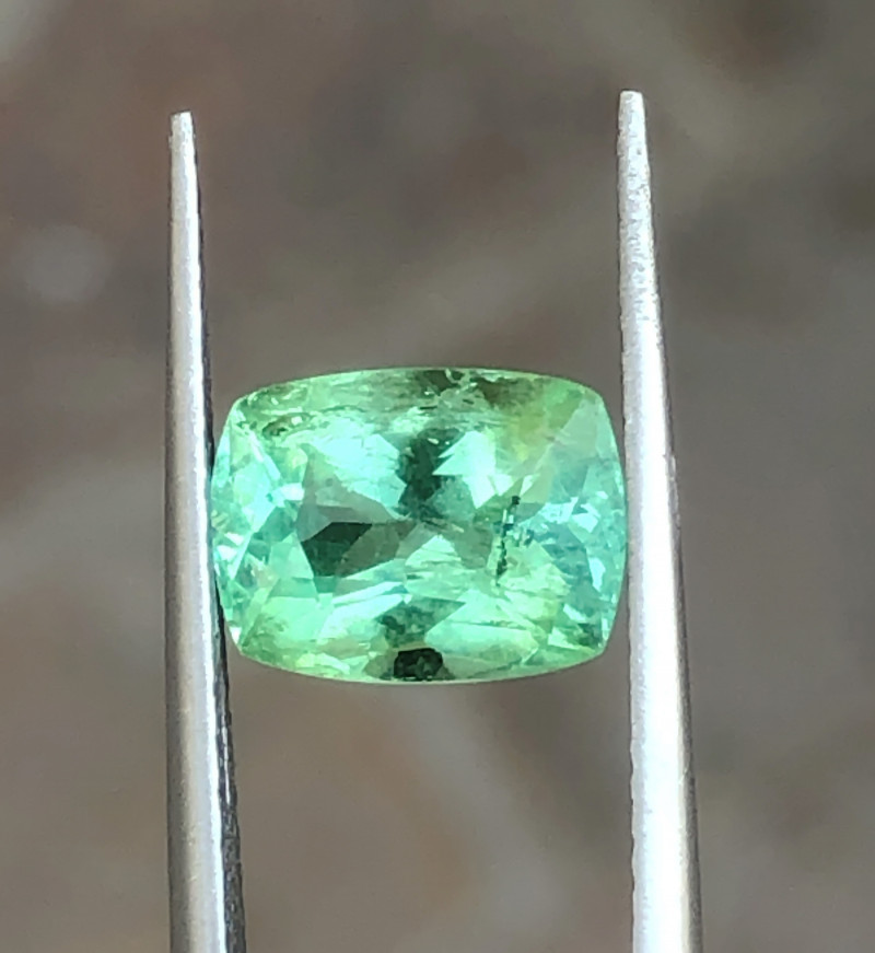 2.65 Ct Natural Sea Foam Color Transparent Tourmaline Ring Size Gemstone