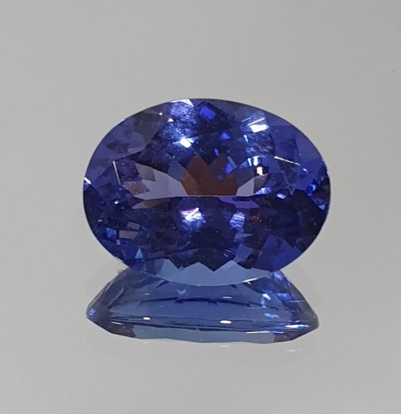 1.96 ct Deep Blue Clean Tanzanite Oval 9.3x7.1mm (SKU110)