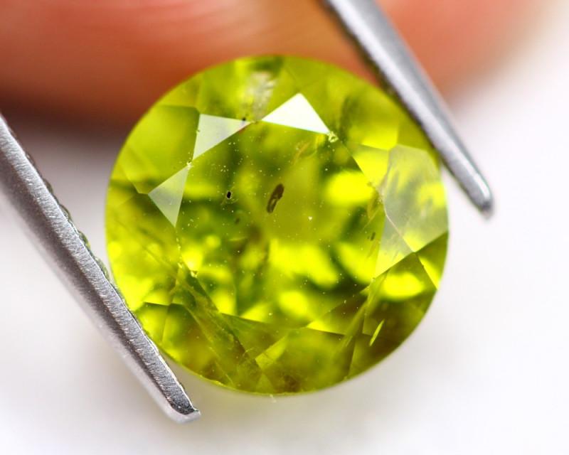 3.56ct Green Peridot Round Cut Lot V4928