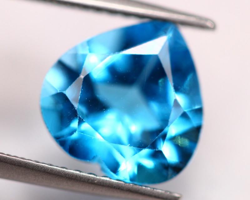 4.06ct Swiss Blue Topaz Heart Cut Lot V4591