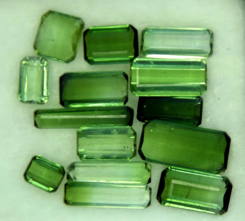 14 CT Beautiful Green Color Natural Tourmaline Gemstone