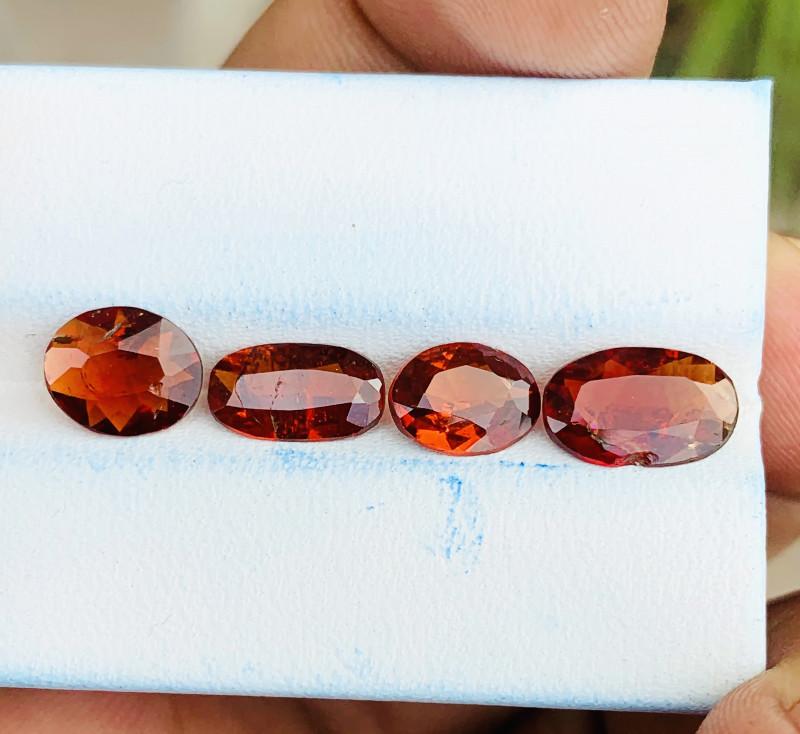 5 Ct Natural Orange Red Transparent Spessartite Garnet Gems Parcels