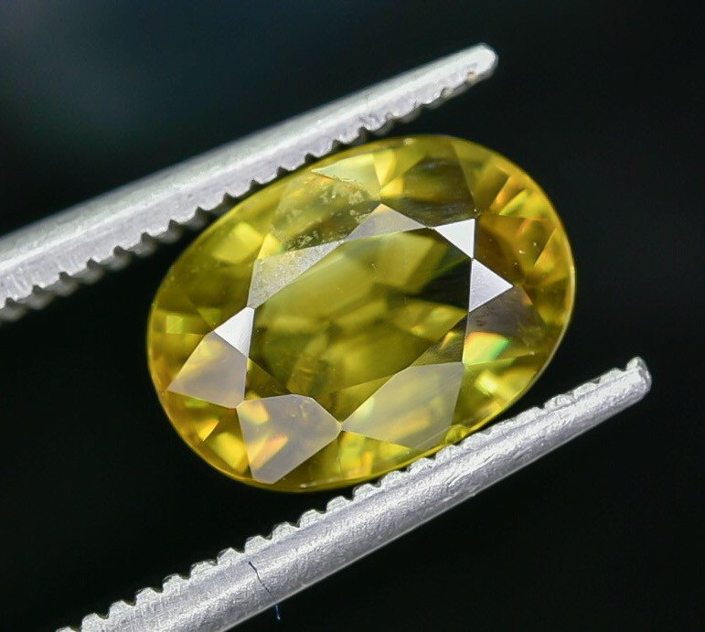 2.50 Crt Natural Sphene Faceted Gemstone AB(23)