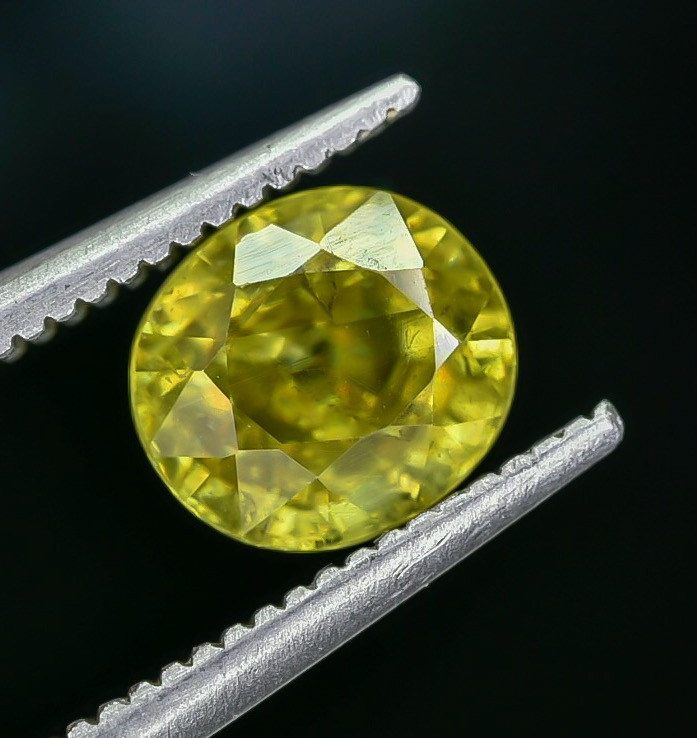 1.58 Crt Natural Sphene Faceted Gemstone AB(23)