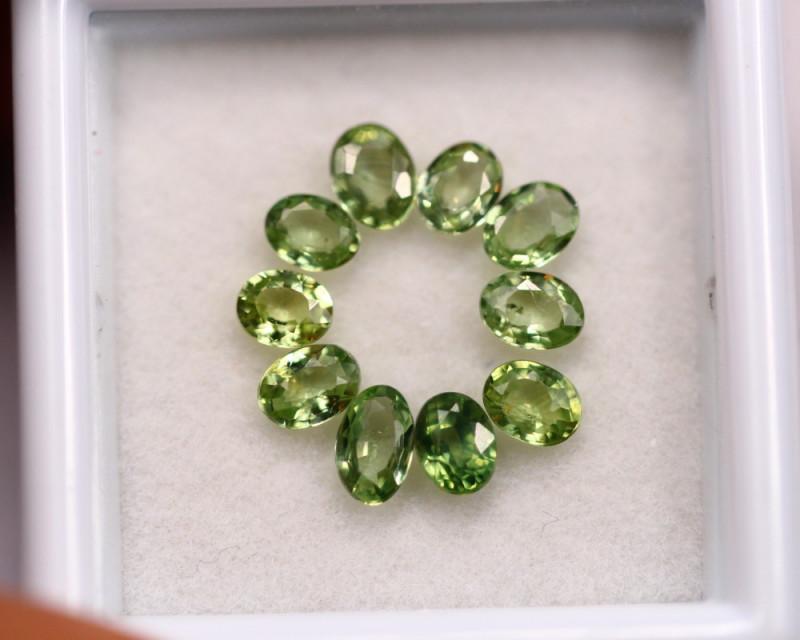2.20Ct Natural Greenish Sapphire Oval Cut Lot LZB639