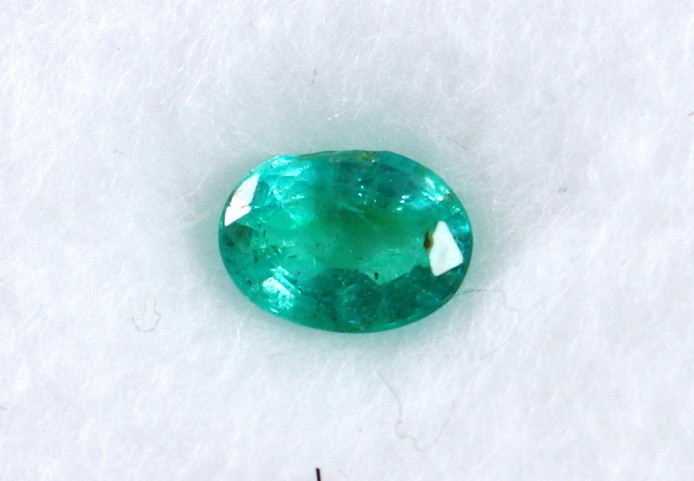 0.70 CT Natural - Unheated Green Emerald Faceted Cut Stone