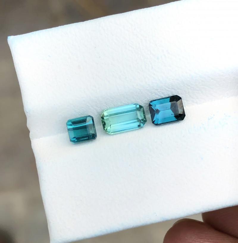 2.10 Ct Natural Blueish Transparent Tourmaline Gems Parcels