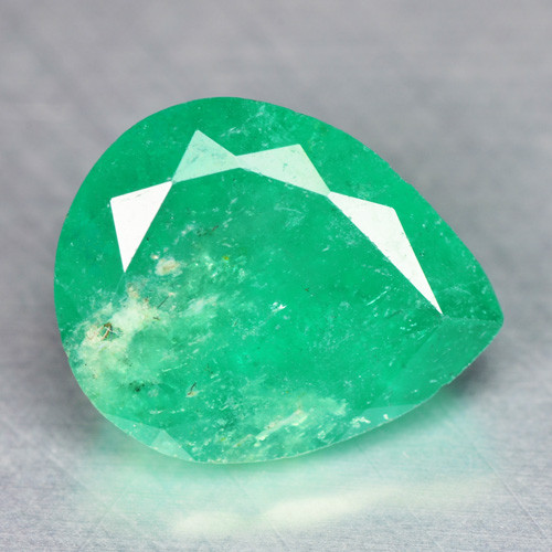 3.60 Cts NATURAL EARTH MINED GREEN COLOR COLOMBIAN EMERALD LOOSE GEMSTONE