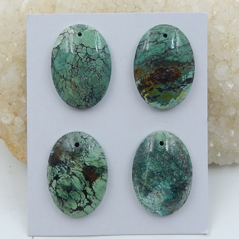 Oval Turquoise ,Handmade Gemstone ,Turquoise Pendant ,Lucky Stone D246