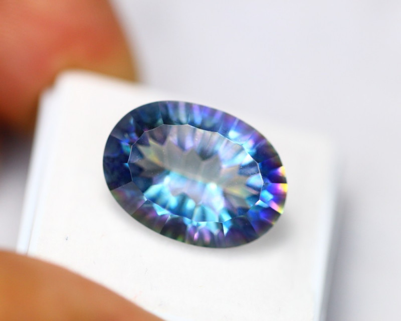 12.25ct Mystic Topaz Oval Cut Lot D86