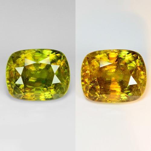 13.20 Natural Yellowish Green Color Sphene Gemstone