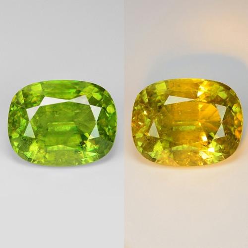9.75 Natural Yellowish Green Color Sphene Gemstone