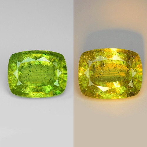 5.01 NATURAL YELLOWISH GREEN COLOR SPHENE GEMSTONE