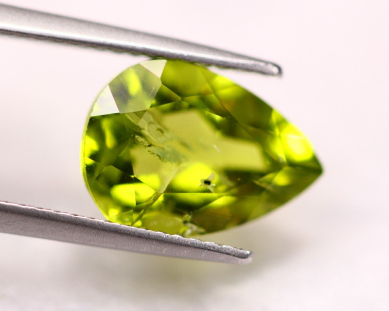 4.01Ct Natural Green Peridot Pear Cut Lot LZ2882