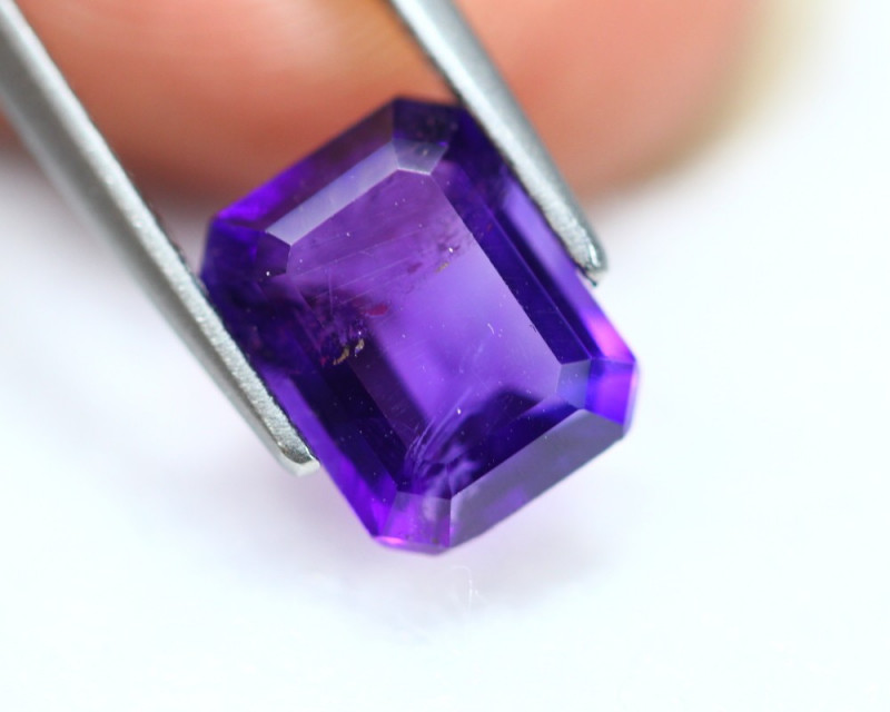 2.17Ct Purple Amethyst Octagon Cut Lot LZ2891