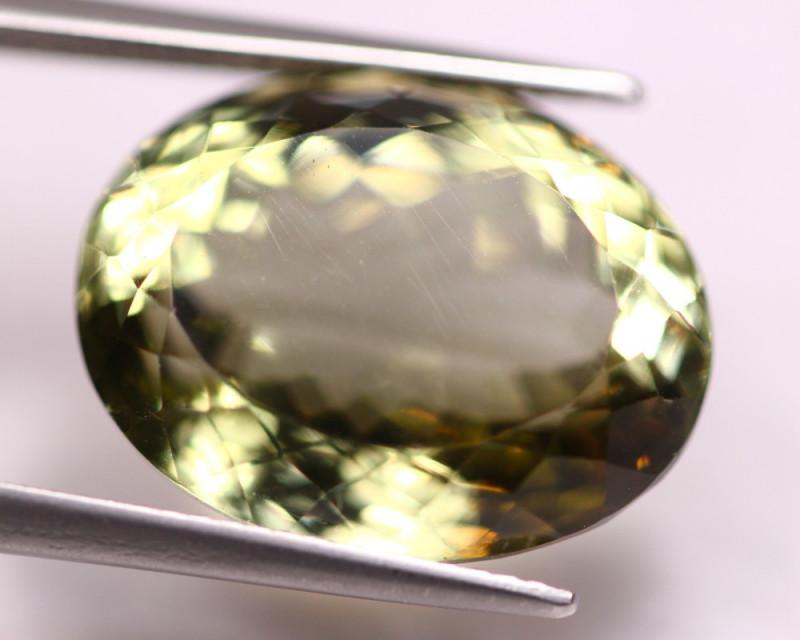 17.73Ct Natural Greenish Prasiolite Oval Cut Lot LZB648